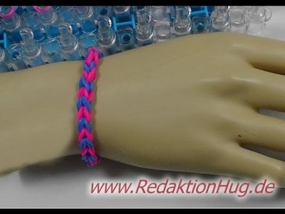 Loom Bands mit Rainbow-Loom - Armband - Deutsch - D