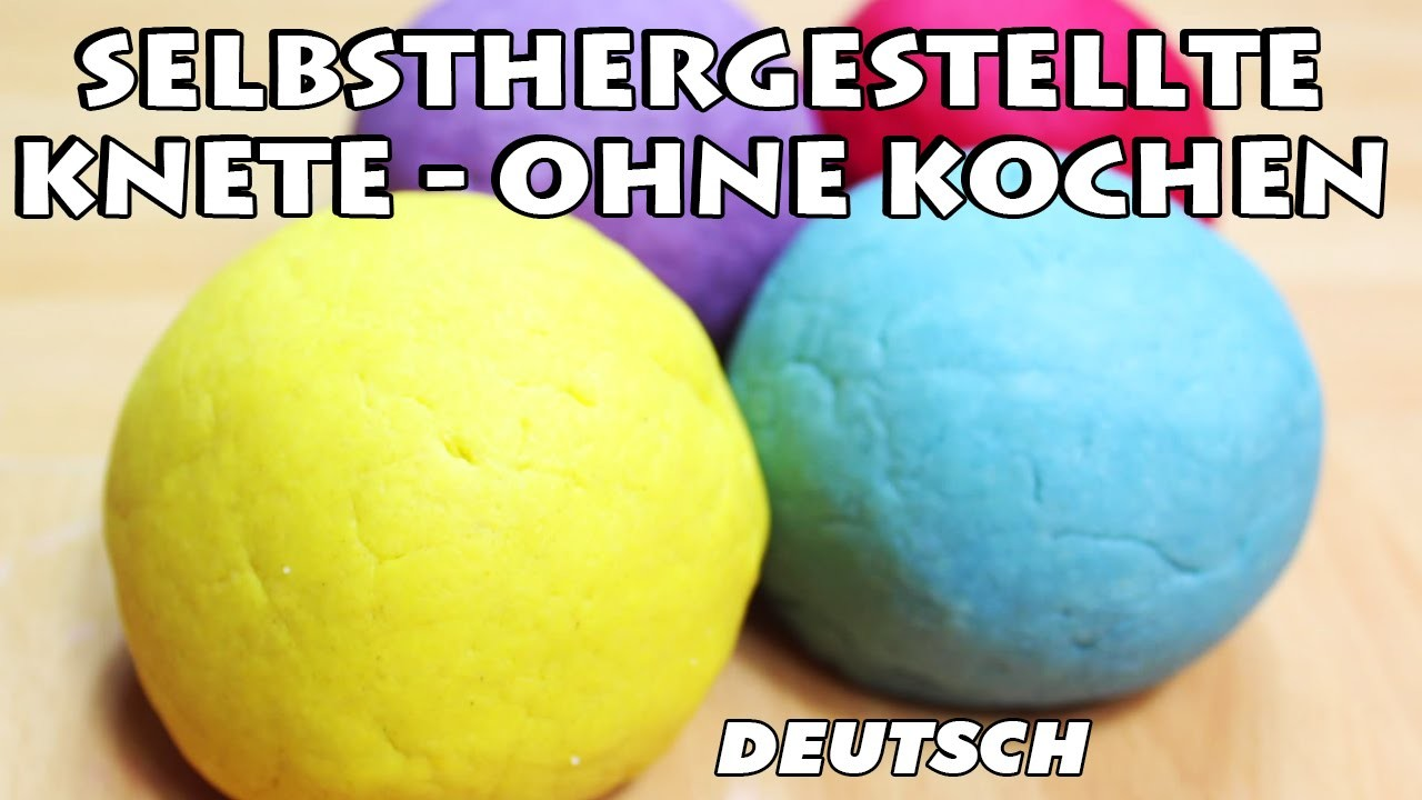 Selbsthergestellte Knete, ohne Kochen | How To Make Easy No Bake Playdough