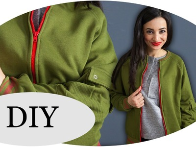 UPCYCLING-DIY: Trendige COLLEGE JACKE. Quick & Easy