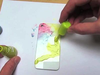 Apple iPhone 4S Backcover mit Nagellack stylen - handyreparatur123