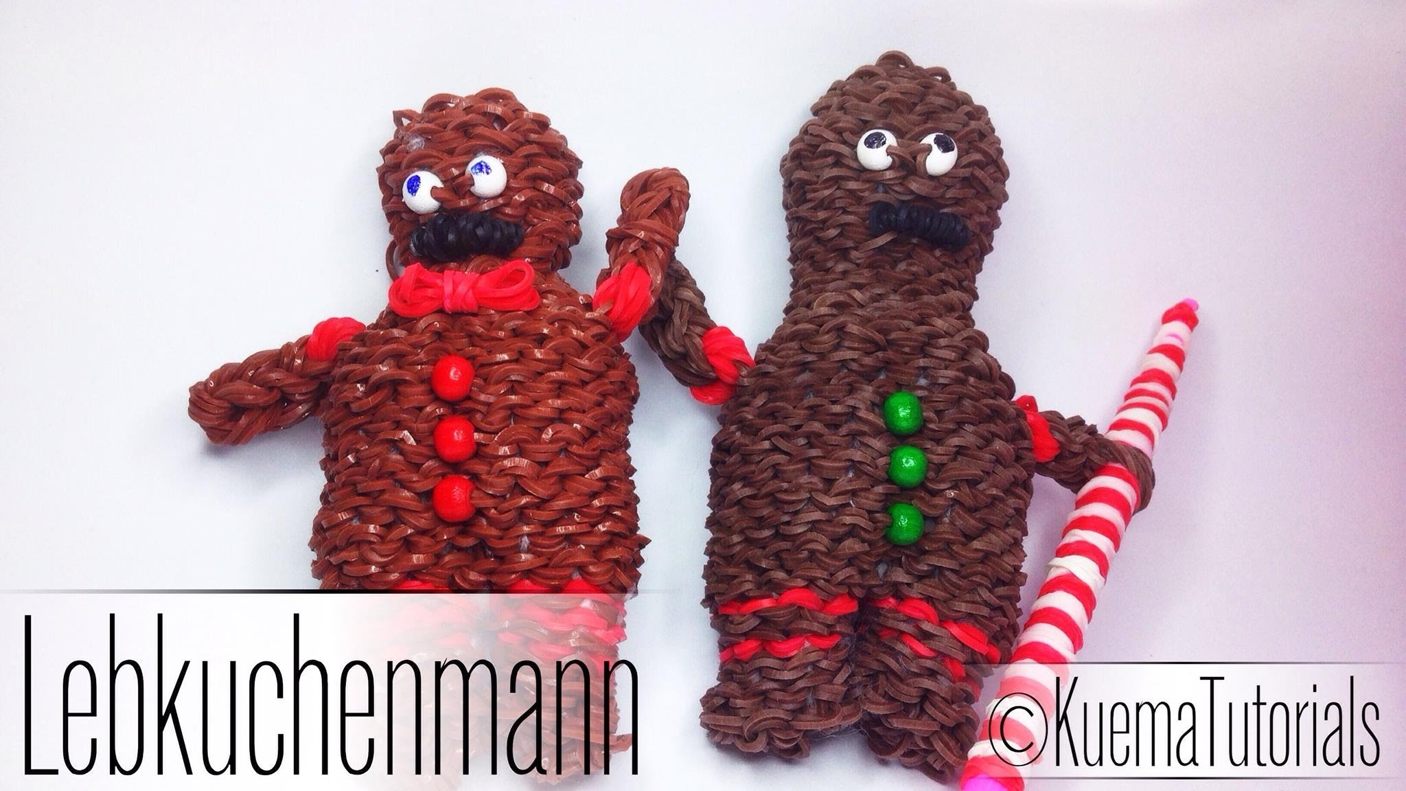 Rainbow Loom 3D Lebkuchenmann. Gingerbread Man