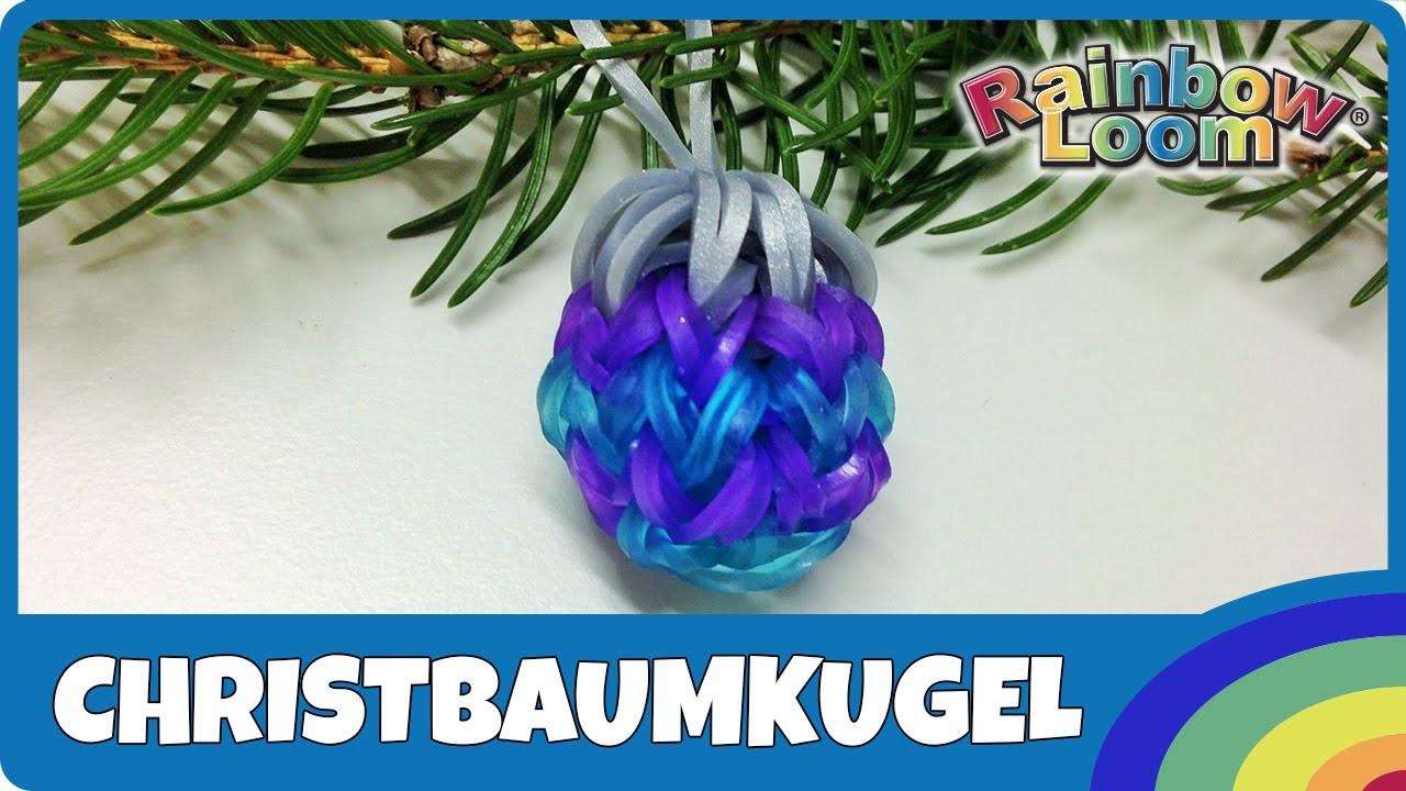 Rainbow Loom Christbaumkugel - deutsche Anleitung