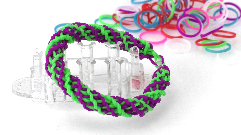 Loom Armband - gedrehtes Doppel Cross. DIY Anleitung bracelet. Armband ganz einfach selber machen
