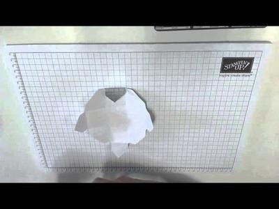 Verpackung für eine große Schokokugel (Rocher) - mit dem Envelope Punch Board
