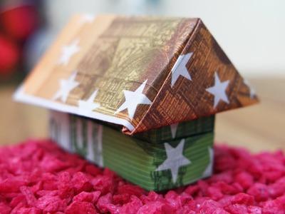 Haus aus Geldscheinen falten