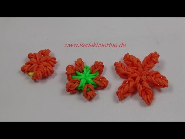 Loom Bands Blume ohne Rainbow-Loom - Deutsch - A