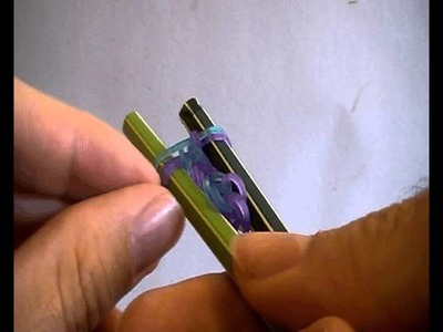 Rainbow Looms Anleitung - Fischgrät Armband (mit Stiften)