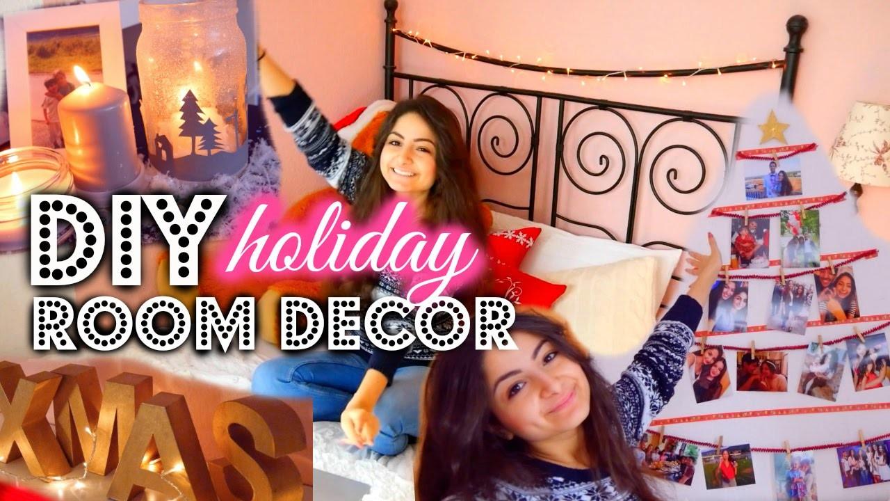 DIY CHRISTMAS ROOM DECOR - günstige & einfache Dekoideen
