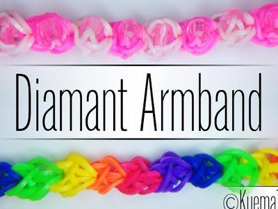 Rainbow Loom Diamant Armband 2 Versionen (  für Anfänger)