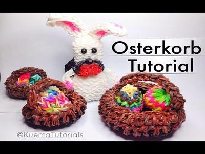Rainbow Loom Osterkörbchen. Easter basket