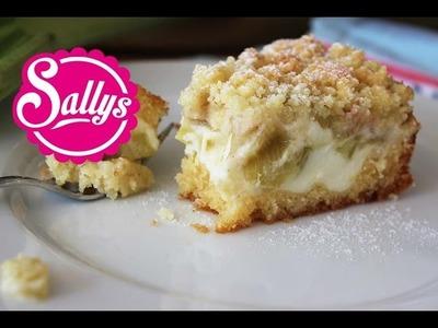 Rhabarberkuchen mit Vanillecreme und Streuseln - sehr einfach, auch als Blechkuchen!