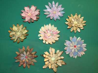 Papierblumen, Blumen aus Papier, kinderleicht