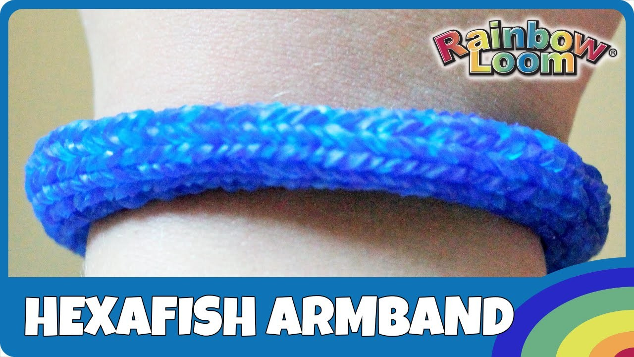 Rainbow Loom MonsterTail: Hexafish-Armband - deutsche Anleitung