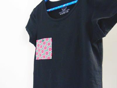 T- Shirt DIY | T Shirt Upcycling | T Shirt gestalten. verschönern | Mode DIY Anleitung | deutsch