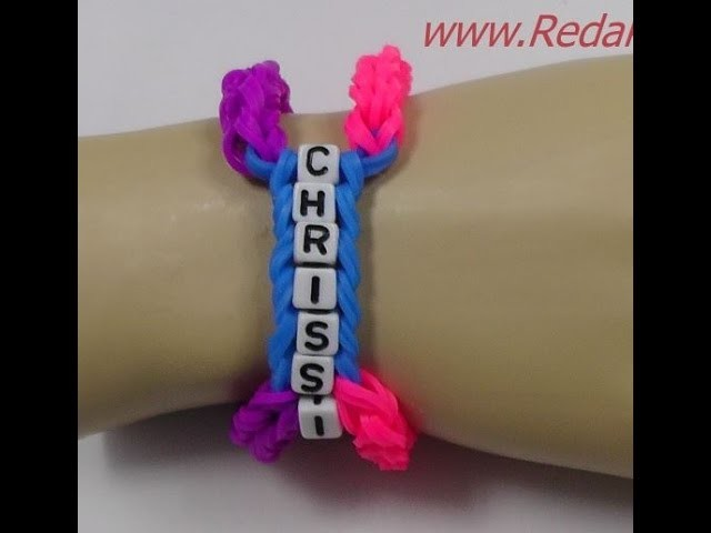 Armband - Loom Bands ohne Rainbow Loom - Deutsch - Buchstaben