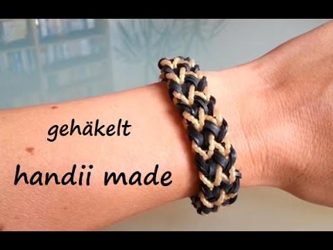 Loom Bands Armband *** Fischgräten *** mit Häkelhaken. Hook Variante 2 *** ohne Loom