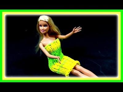 Barbie Kleid selber machen - Loom Bands Puppenkleid Kleidung | Bastelideen