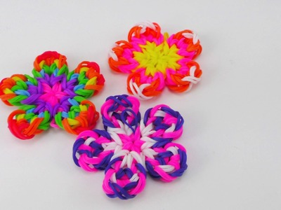 DIY Blumen Anhänger. Flower Charm Rainbow Loom Flower Charm Anhänger | deutsch