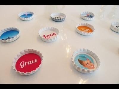 DIY: Individuelle Magneten aus Kronkorken super einfach selber machen | Deko-Kitchen