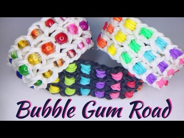 Rainbow Loom Bubble Gum Road Armband. bracelet