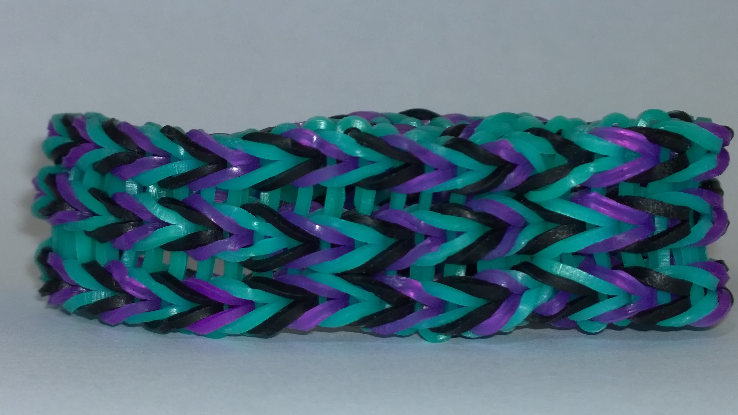 Rainbow Loom Triple Fishtail Bracelet without rainbow loom! Easy to make it! DIY!