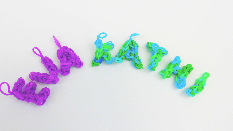 Rainbow Loom Buchstaben Infovideo Eva macht das ganze Alphabet für euch!