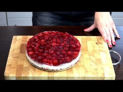 DIY HIMBEER-MASCARPONE-TORTE Rezept. Anleitung Eva backt für euch! | deutsch