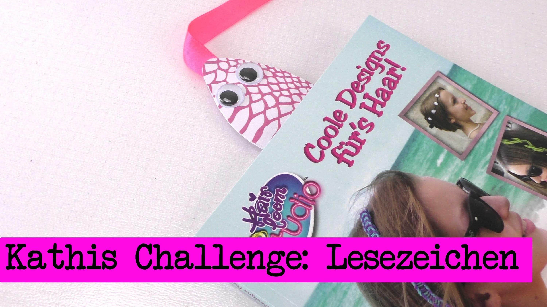 DIY Inspiration Challenge #11 Lesezeichen | Evas und Kathis Challenge | Do It Yourself Tutorial