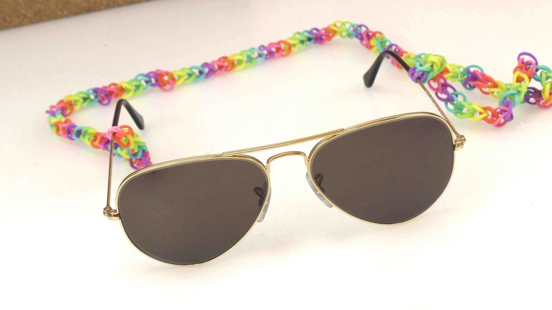 Rainbow loom sonnenbrille - Loom Sonnenbrillenkette für den Sommer