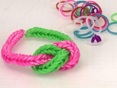 Loom Armband mit großem Knoten Anleitung - Wie macht man ein Rainbow Loom Knotenarmband?