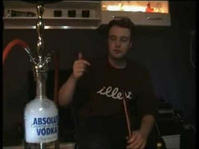 Absolut Vodka 4,5 l Shisha selbst bauen custom Bowl