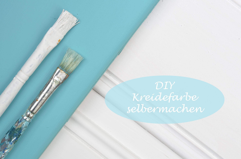 DIY - Kreidefarbe.Chalk paint ganz einfach und sehr günstig selbermachen