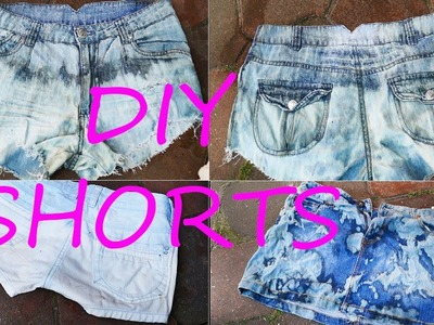 DIY Shorts für 1,49€ ♡ used Look, bleaching, frazzle