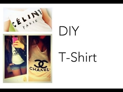 DIY [Céline Paris T-Shirt]
