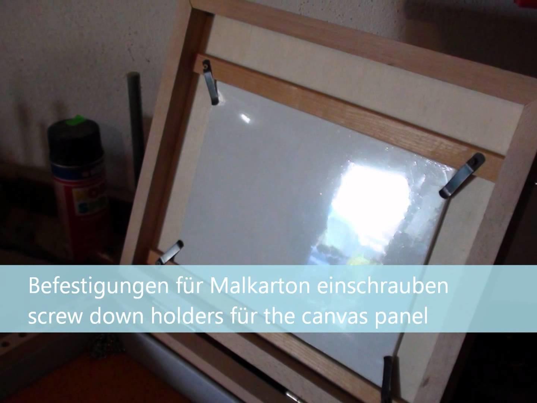 Malkoffer selber bauen - DIY pochade box.wmv
