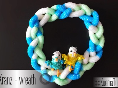 Rainbow Loom Tisch Tür Kranz - Door Table wreath ( ENG SUB)