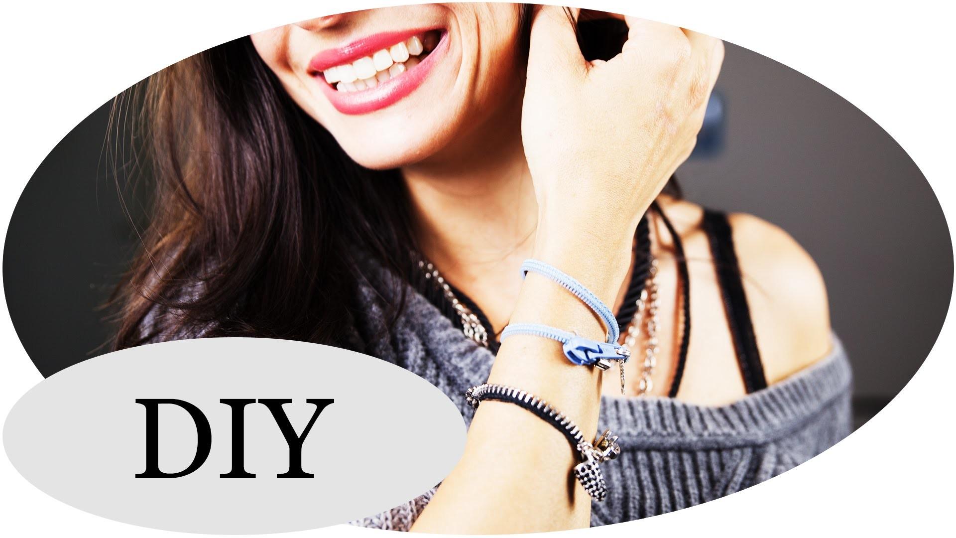DIY Armband aus Reißverschlüssen -