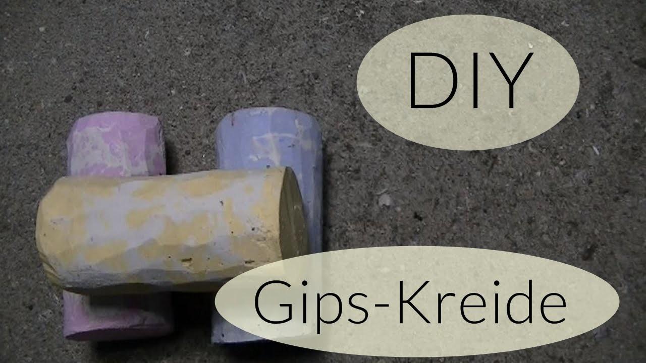 DIY Gips Kreide I Kreide selber machen I Crafts for Kids I Deutsch - Finola 2015
