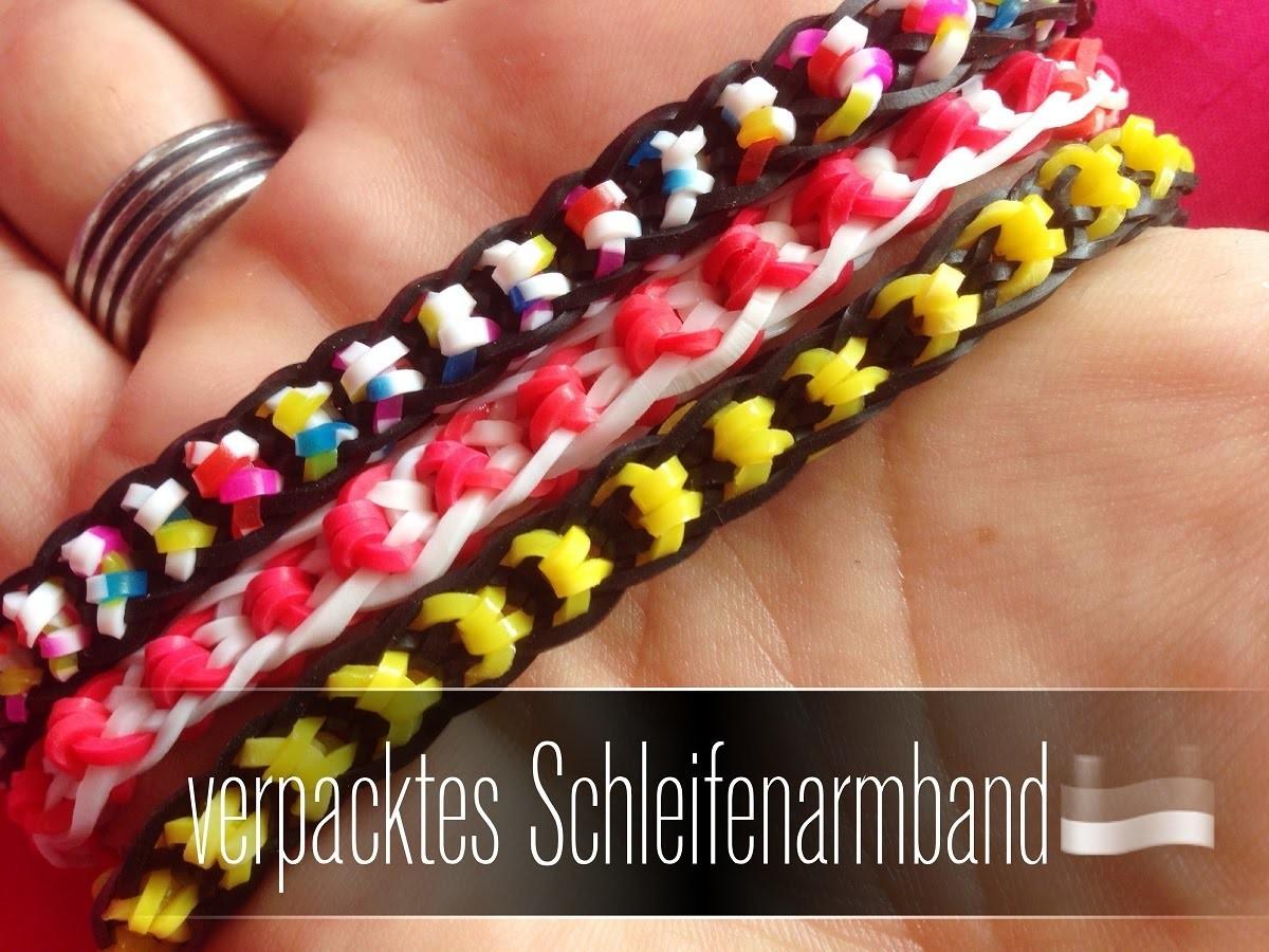 Raibow Loom verpacktes Schleifenband   Tutorial German
