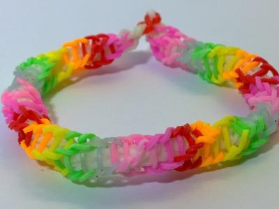 Rainbow Color Spirilla Bracelet Rainbow Loom Spirilla Bracelet With Mini Loom