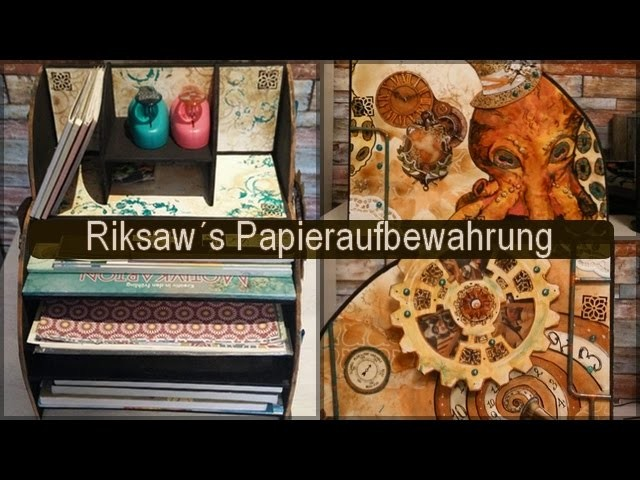 {steam your paper} Meine Papieraufbewahrung für Scrapbooking-Papiere mit kleiner Anleitung