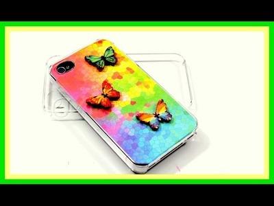Schmetterling Handyhülle selbst gestalten - DIY Handyhüllen iphone 6, iphone 5, iphone 4 alle Handys