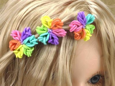 Hairloom Regenbogen Blumen Tutorial - Wie mache ich Rainbow Loom Blumen fürs Haar?