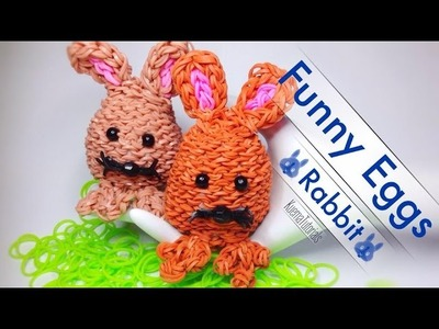Rainbow Loom Funny Eggs!  Hase - Rabbit
