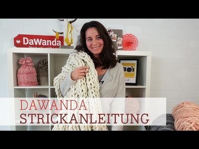DaWanda Strickanleitung: Decke aus Loopy Mango