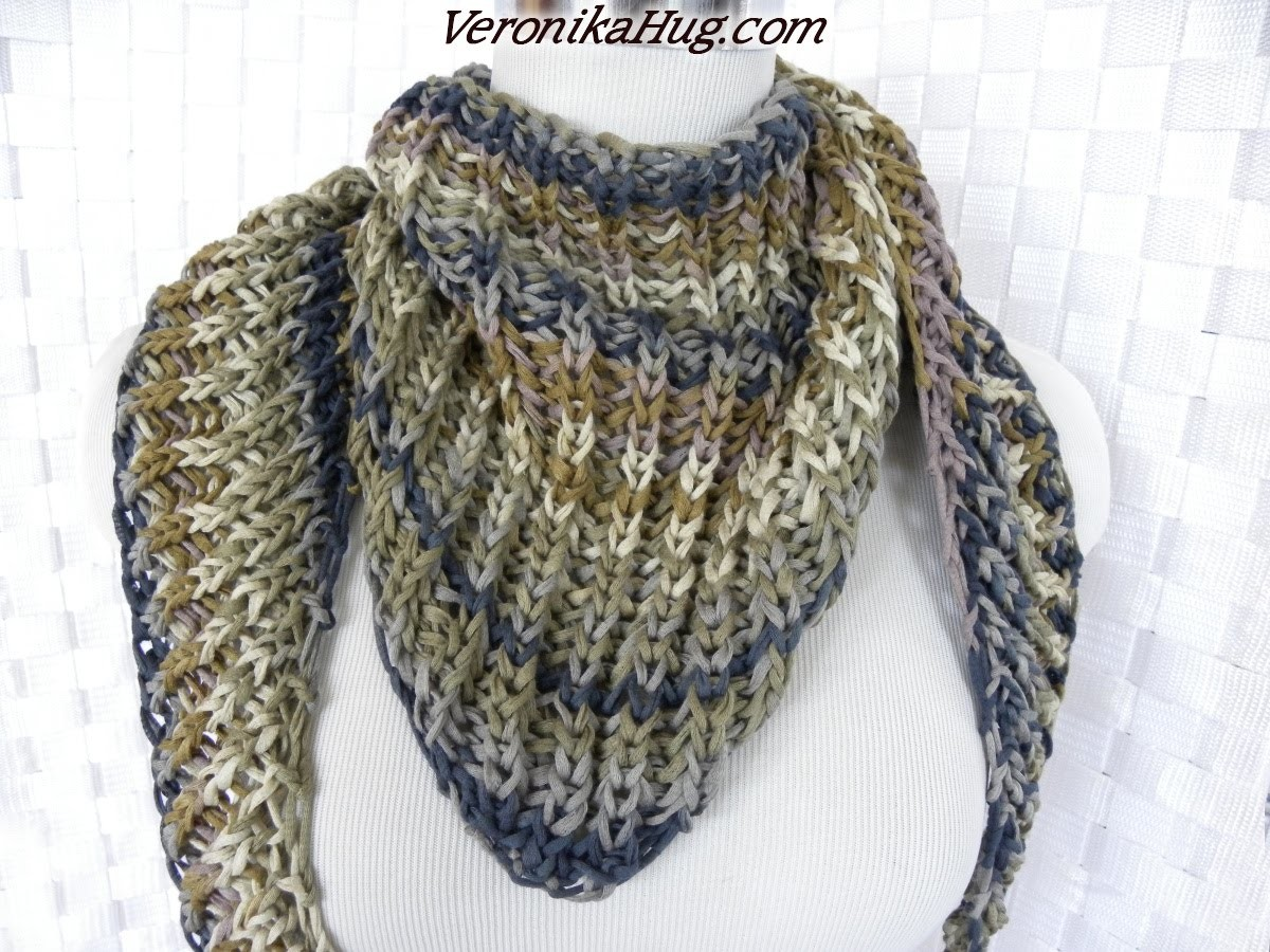 Stricken - Tuch Patentmuster VENEDIG - Woollly Hugs 10 - Veronika Hug