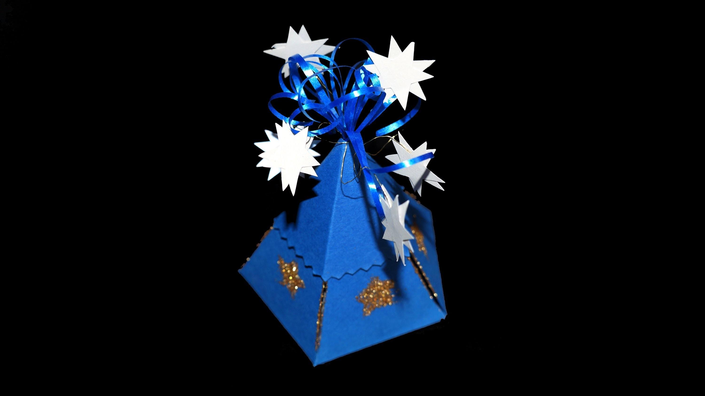 Sternenbox aus Papier - Bastelanleitung