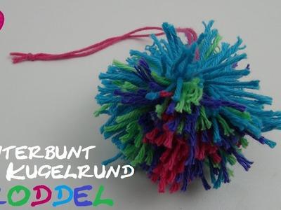 DIY Accessoires - Troddel. Quaste. Quoddel. Quaddel in bunten Farben als Anhänger. Deko. Accessoires
