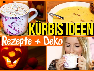 DIY STARBUCKS Pumpkin Spice Latte, KÜRBISSUPPE & Halloween Laterne