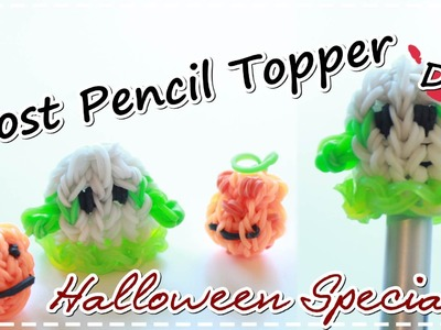 Halloween DIY | Rainbow Loom Charms GHOST | Pencil Topper